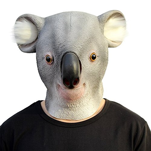 CreepyParty Deluxe Novelty Halloween Costume Party Latex Animal Head Mask Koala