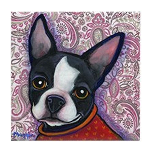 CafePress - Boston Terrier Peggy - Tile Coaster, Drink Coaster, Small Trivet