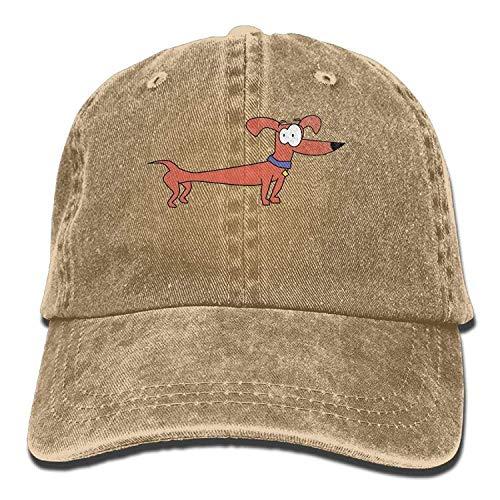 (Khom Premium Baseball Caps Adjustable Strap, Long Haired Dachshund (2) Denim Baseball-Cap Adjustable Dad-Hat Print Cowboy Cap for Men Women)