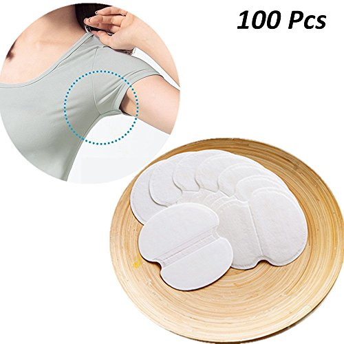 Price comparison product image Disposable Underarm Dress Shields, COSCOD Pure Pads Antiperspirant Adhesive Underarm Pads,100PCS Armpit pad Comfortable & Discreet & Sweat Free & Odor Free
