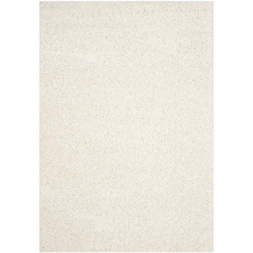 Safavieh Athens Shag Collection SGA119B White Area Rug (9' x 12')