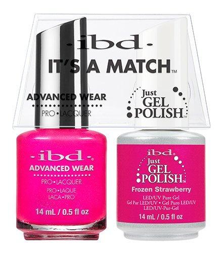 ibd Advanced Wear Color Duo Frozen Strawberry #496 UV Gel -