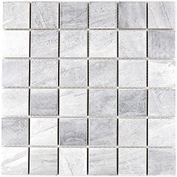 Mosaik Fliese Keramik Travertin grau matt für WAND BAD WC ...