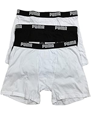 Men's Boxer Briefs 3 Pack, Black/White Traditional