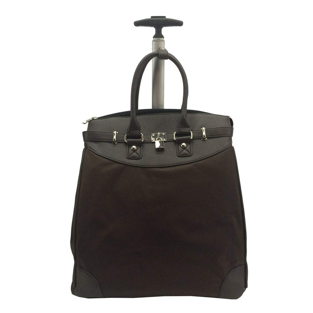 Rollies USA Rollies Solid Rolling 14-inch Laptop Travel Tote Brown