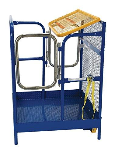 Vestil WP-3636-DD Steel Work Platform, 1000 lb Capacity, 36'' x 36'' with Double Doors, Powder Coat Blue, not for use in California by Vestil (Image #4)