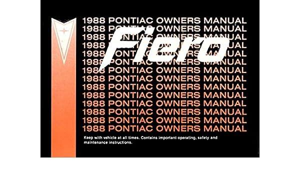 amazon com bishko automotive literature 1988 pontiac fiero owners rh amazon com pontiac g8 owner's manual pontiac g6 owner's manual