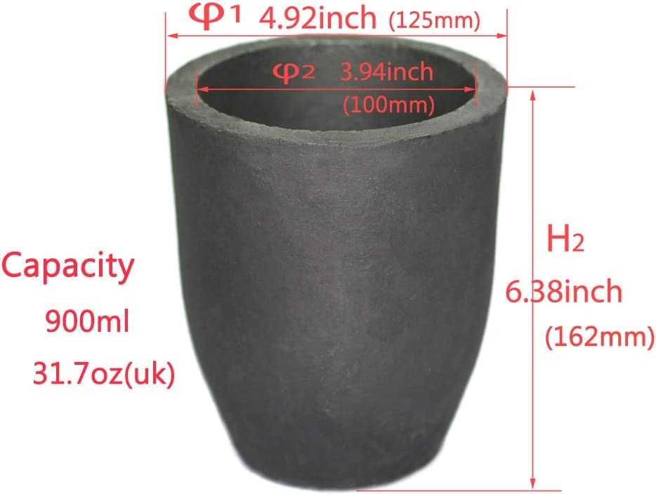 #3S Clay Graphite Crucible Foundry Cup Furnace Torch Melting Casting Refining Gold Silver Copper Brass Aluminum Lead Zinc and Alloys
