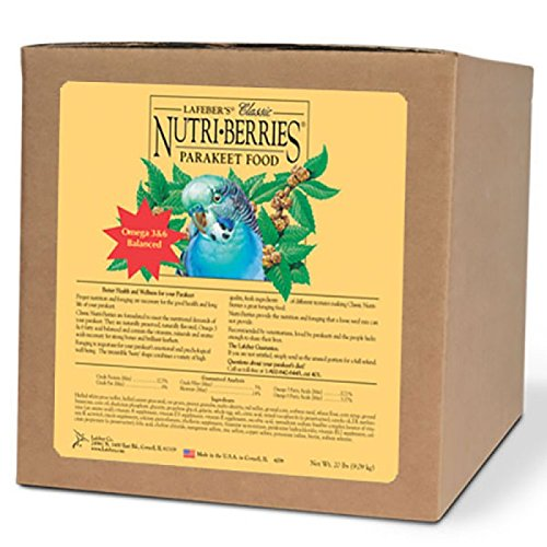 LAFEBER'S Classic Nutri-Berries Parakeet Food 20lb by LAFEBER'S