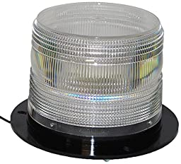 North American Signal LED625F-C LED Beacon, Permanent Mount, Clear