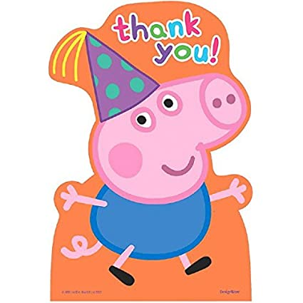 Amazon Com Postcard Thank You Cards Peppa Pig Collection Party