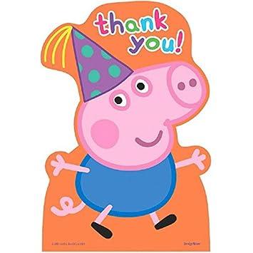 Amazon.com: Amscan – Peppa Pig – Fiesta de cumpleaños postal ...