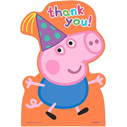 Postcard Thank You Cards | Peppa Pig Collection | Party Accessory]()