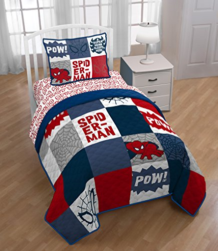 Jay Franco Marvel Spiderman Spidey Sense Full/Queen Quilt (Spiderman Sheets For Queen Bed)