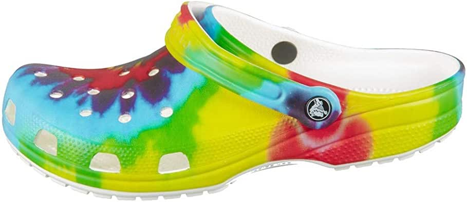 Crocs Men's and Women's Tie Dye Mania Clog|Casual Slip On Water Shoe