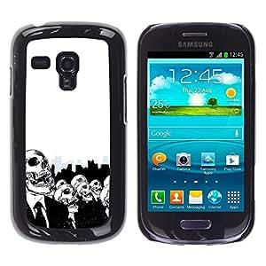 Caucho caso de Shell duro de la cubierta de accesorios de protección BY RAYDREAMMM - Samsung Galaxy S3 MINI NOT REGULAR! I8190 I8190N - Skulls Skeletons Big City Life Death Symbolic Art