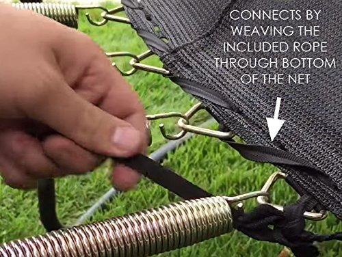 Trampoline Net for Bounce Pro/Sports Power 15' Round Frames Fits 6 Pole/Top Ring by SkyBound (Image #6)