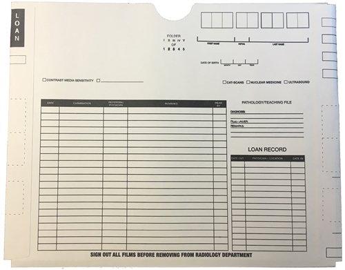 X-Ray Jacket - Preprinted Black Both Sides, No Pocket, 14-1/2