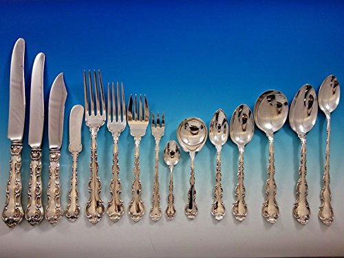 Strasbourg by Gorham Sterling Silver Flatware Service 12 Dinner Set 186 Pieces