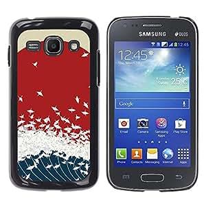 EJOY---Cubierta de la caja de protección la piel dura para el / Samsung Galaxy Ace 3 / --Japonesa Wave