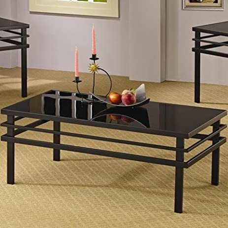 Amazoncom Coaster 3 Piece Occasional Table Sets Modern Coffee