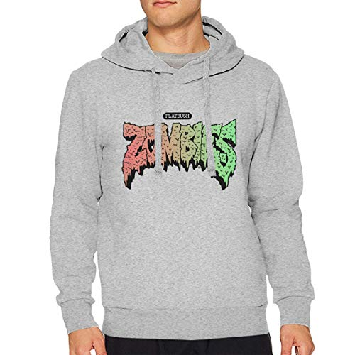 VicRomanko Men's Flatbush Zombies Long Sleeve Young Funny Drawstring Music Sweater 3XL - Sleeve Long Funny Zombies