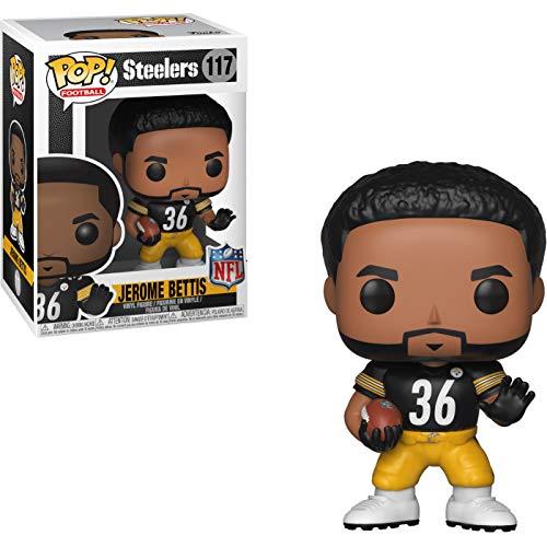 (Jerome Bettis [Pittsburgh Steelers]: NFL x Funko POP! Football Vinyl Figure & 1 PET Plastic Graphical Protector Bundle [#117 / 33401 - B])