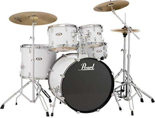 pearl-soundcheck-complete-5-pc-drum-set-with-hardware-and-zildjian-planet-z-cymbals-pure-white