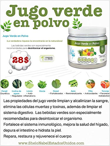 Amazon.com: X2 Jugo Verde en Polvo/Green Juice Powder Cleaner with Vitamins That Fortify The Immune System Detox vitaminas que fortalecen el sistema ...
