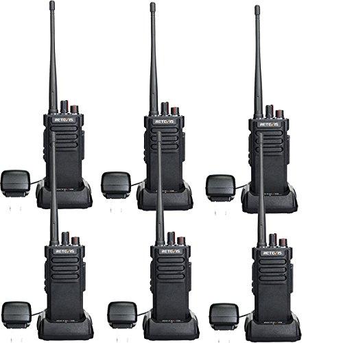- Retevis RT29 2 Way Radios Long Range 3200mAh UHF Radios 16 CH VOX Encryption Alarm Security High Power Walkie Talkies with Super Clear Audio(6 Pack)