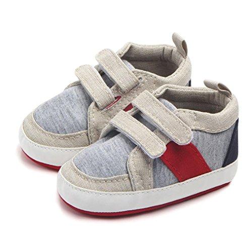 Clode® Neugeborene Kleinkind Baby Säuglings Mädchen Jungen weiche rutschfeste Sneaker Kleinkind Schuhe Beige