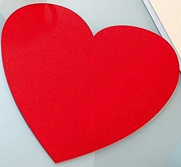Filzuntersetzer Valentinstag Herz Gross O 40 Cm Tischset Filz Rot 4er