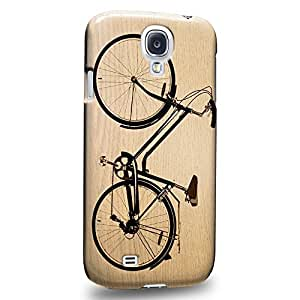 Case88 Premium Designs Art Classic Retro Bicycle Series Wooden Black Bicycle Protective Snap-on Hard Back Case Cover for Samsung Galaxy S4