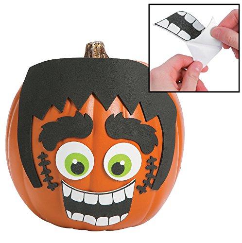 (1 Dozen Green Monster Pumpkin Decorating Craft Kits - Halloween)