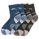 2-Pack-Merino-Wool-Mens-Hiking-Socks-Half-Full-Thickness-For-Trekking-Mountaineering