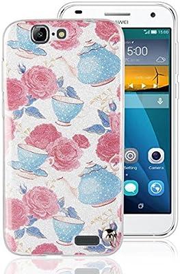 Funluna Huawei Ascend G7 Funda, Brillantes Patrón único Diamante ...