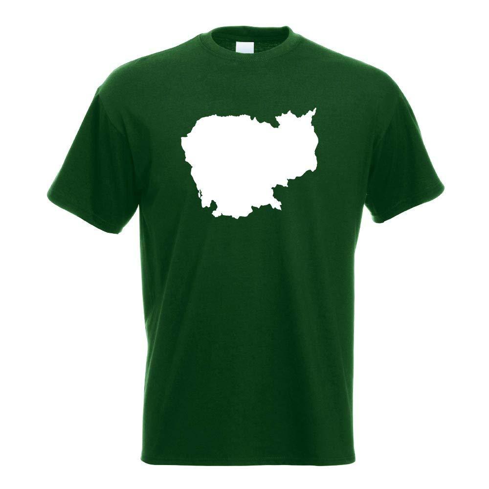 Cambodia Outline Contour T Shirt Printed Design Print Gift Idea 3557