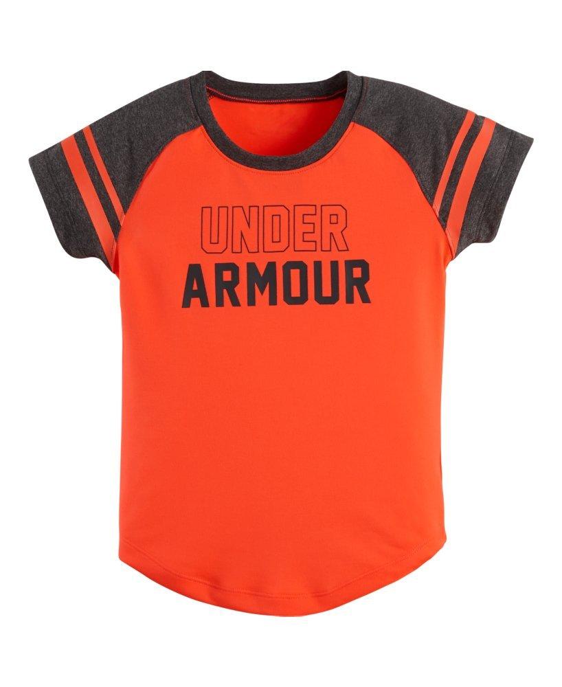 アンダーアーマーガールズpre-school UAベースボールラグランTシャツ B01NAEJMVBAfter Burn/ Carbon Heather/ Lead 5