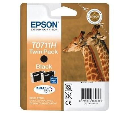 Epson C13T07114H10 Confezione 2 Cartucce Inkjet, Ink Pigmentato Blister RS T0711H, Nero Consumabili stampanti InkJet Cartucceperstampantiefax