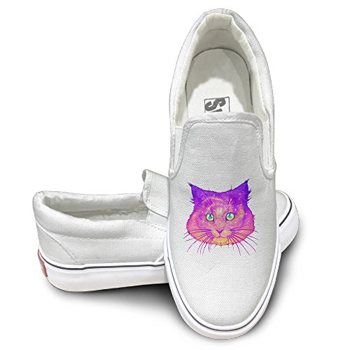 colorful-galactic-space-cat-fashion-slip-on-canvas-sneakers-37-white