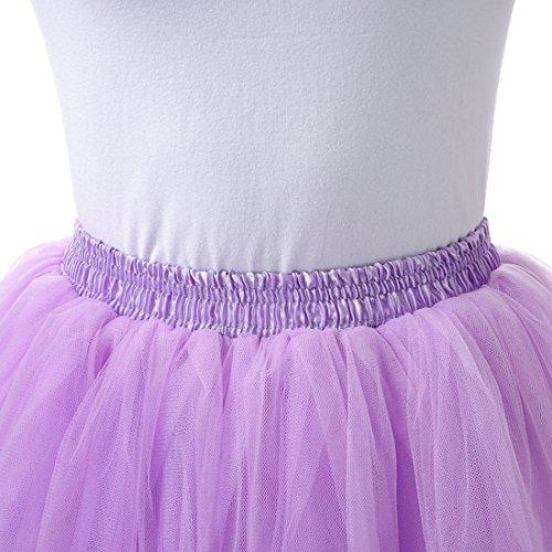 Tul Tutú De Cumpleaños Violeta Para Mujer Falda Plisada Skirt Fiestas Feoya Ballet Chica Tutu Corta Princesas Danza wIxXz