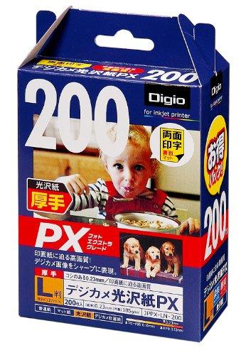 200 sheets JPPX-LN-200 Nakabayashi Digio inkjet paper glossy paper digital camera PX L-size (japan import)