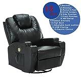 Uenjoy Electric Massage Chair Recliner Sofa Body Ergonomic Swivel...