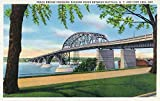 Buffalo, NY - Peace Bridge Crossing Niagara River View; Fort Erie, Ontario in Distance (16x24 Collectible Giclee Gallery Print, Wall Decor Travel Poster)