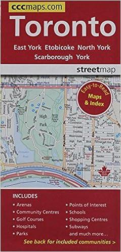 Toronto ontario easy to read street map canadian cartographics toronto ontario easy to read street map canadian cartographics corporation 9781553683919 amazon books gumiabroncs Choice Image