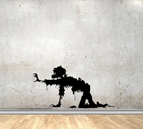 Army Vinyl Wall Decals Military Dead Soldiers Zombie Halloween Decor Stickers Vinyl MK5045 ()
