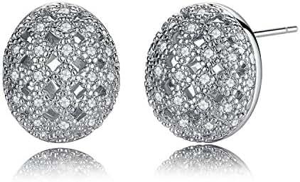 Earrings,Dangle Drop Earrings, Simple Fashion Square & Cone Stainless Steel Drop Earrings (style C)