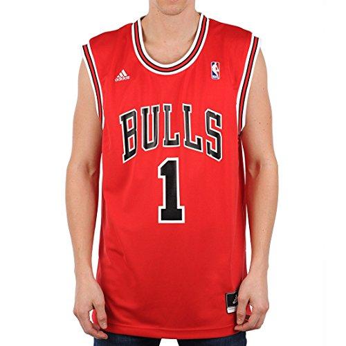 adidas Herren Trikot Chicago Bulls Derrick Rose NBA Int Replica, Rot, M, L69777