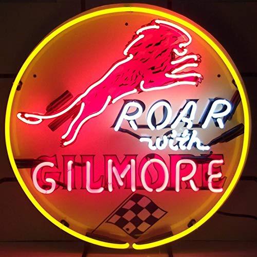 Gilmore Cabinet - SKB family Gilmore Gasoline Neon Sign, 24