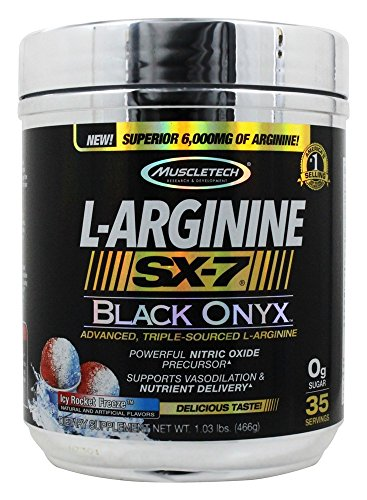 Muscletech L-Arginine SX-7 Black Onyx ICY Rocket Freeze 1 03 lbs 466 g by MuscleTech